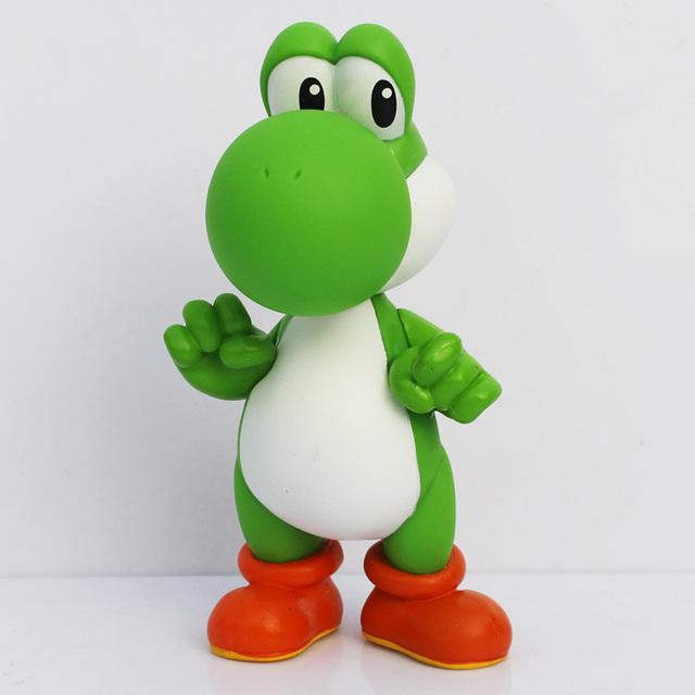 Super Mario Bros PVC Figure Toys 13cm Luigi Mario Yoshi Action Figures