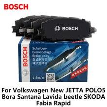 4pieces/set Bosch Car Brake Pads Front For Volkswagen New JETTA POLO5 Bora Santana  beetle SKODA Fabia Rapid 0986ab1185