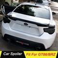 Автомобильный спойлер из углеродного волокна для Subaru BRZ Toyota GT86 2012 2013 2014 2015 черное автомобильное украшение в виде хвостового крыла задний спо...