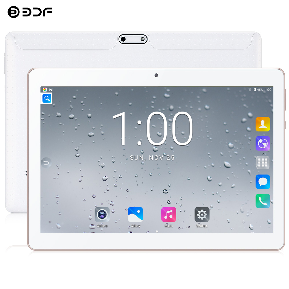 2020 New BDF 10 Inch Android 7.0 Tablet Pc 3G Phone Call SIM Card Quad Core CE Brand WiFi FM Pc Tablets 10.1 Inch