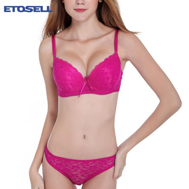 376ad68b05b4 Women Lady Cute Sexy Underwear Satin Lace Embroidery Bra Sets With Panties  New jeaz