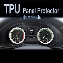 MUQISHI For Skoda Kodiaq 2017-2018 Car Navigator Dashboard Protective Film TPU LCD Screen Protector dash panel cover pad
