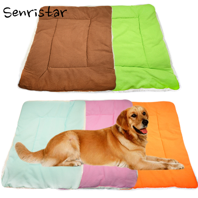 fa8b084f09e2 Pet Soft Flannel Cotton Dog Bed Mat for Small Medium Large Dogs Sleep  Blanket Warm Cushion Puppy Cats Breathable Pad Fleece Beds