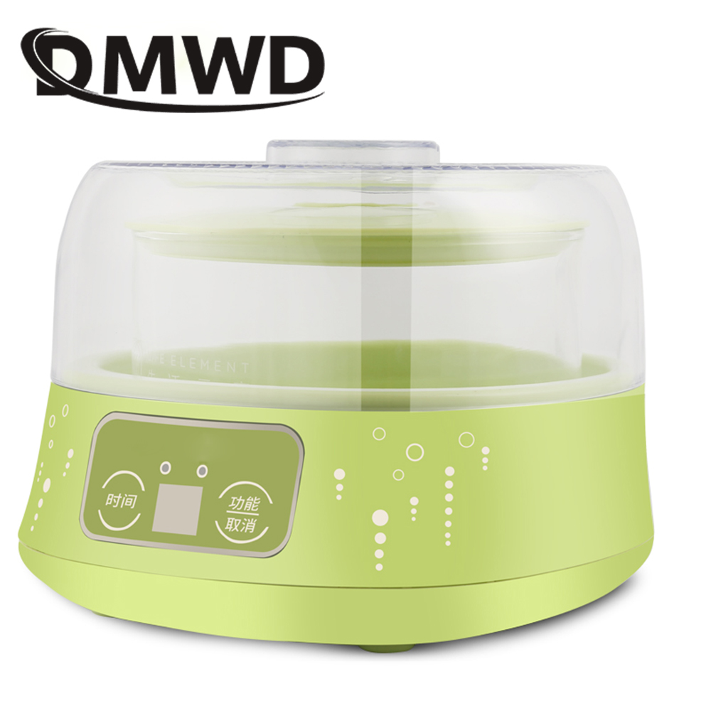 DMWD Automatic Lemon Ferment Machine Electric Fruit Yogurt Maker Glass liner Container Multifunction DIY Leben Fermenter EU plug dmwd full automatic electric yogurt maker household yoghurt fermenting machine leben fermenter container 110v 220v dual voltage