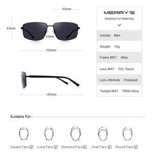 Image 3 - Merrys DESIGN Classic Square แว่นตากันแดด Polarized สำหรับขับรถกีฬากลางแจ้ง Ultra   light UV400 ป้องกัน S8131