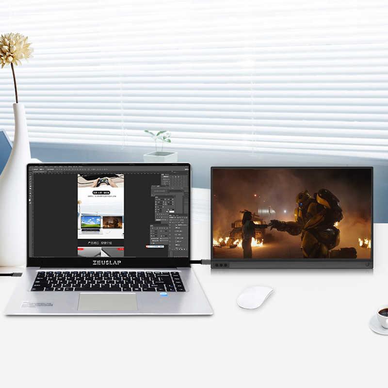 15,6 дюймов cctv камера ноутбук Настольный телефон экран ips Портативный ЖК-монитор