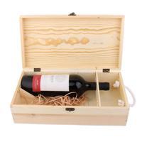 35 19 10cm Dual Bottle Wood Wine Box Carrier Crate Case Best Gift Decor