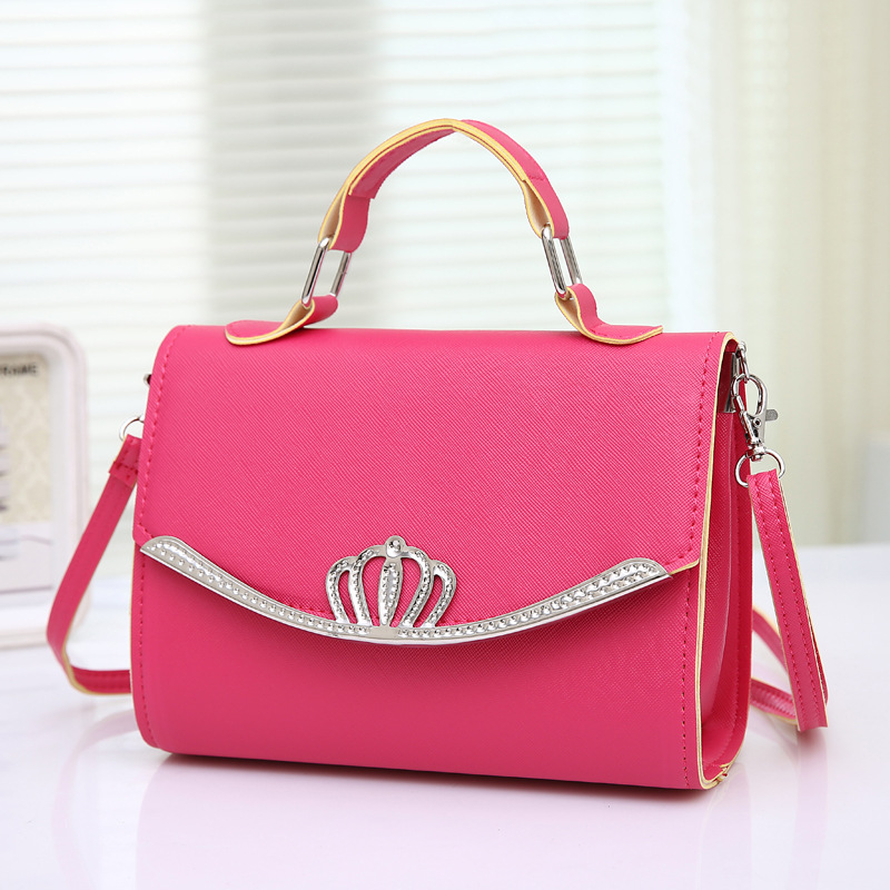 RanHuang Women Candy Color Casual Handbags PU Leather Small Shoulder Bags Female Designer Messenger Bags Blue bolsa feminina A35 5
