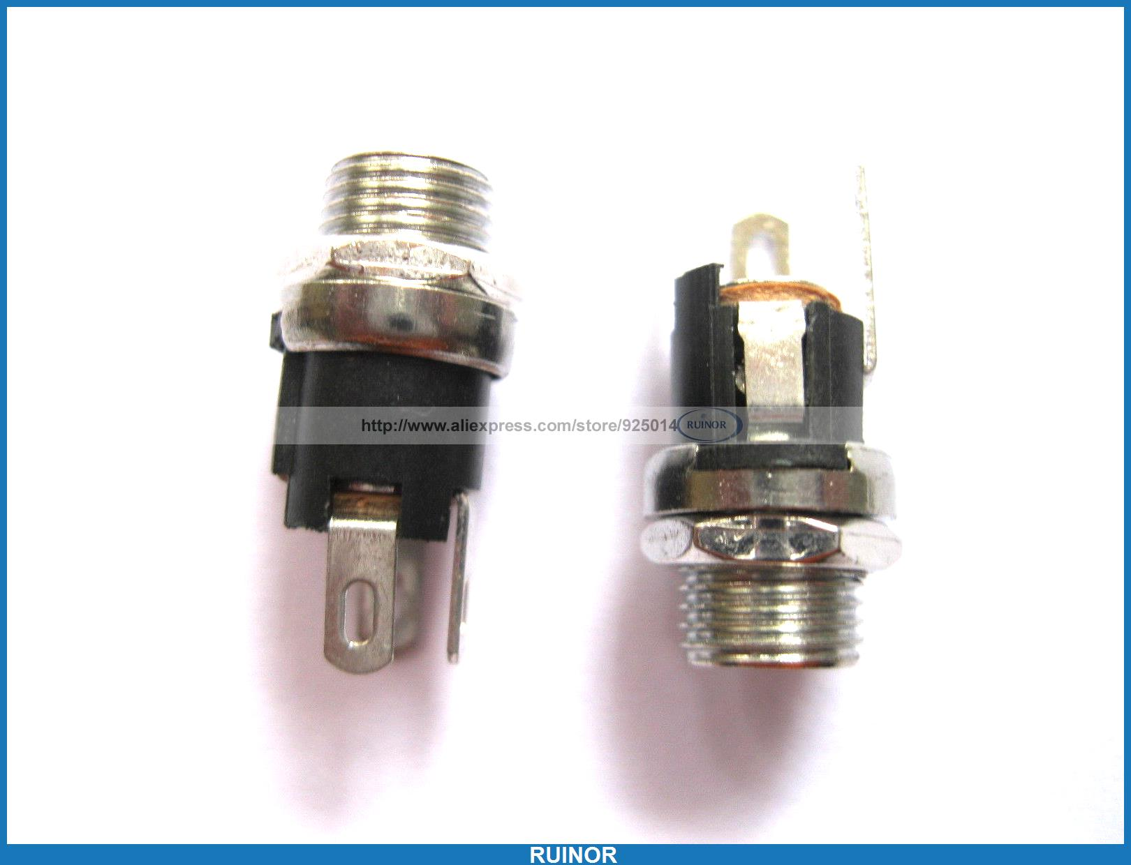 ФОТО 40 Pcs DC Power Jack Screw Type Pin 2 0mm DC025 L 21mm