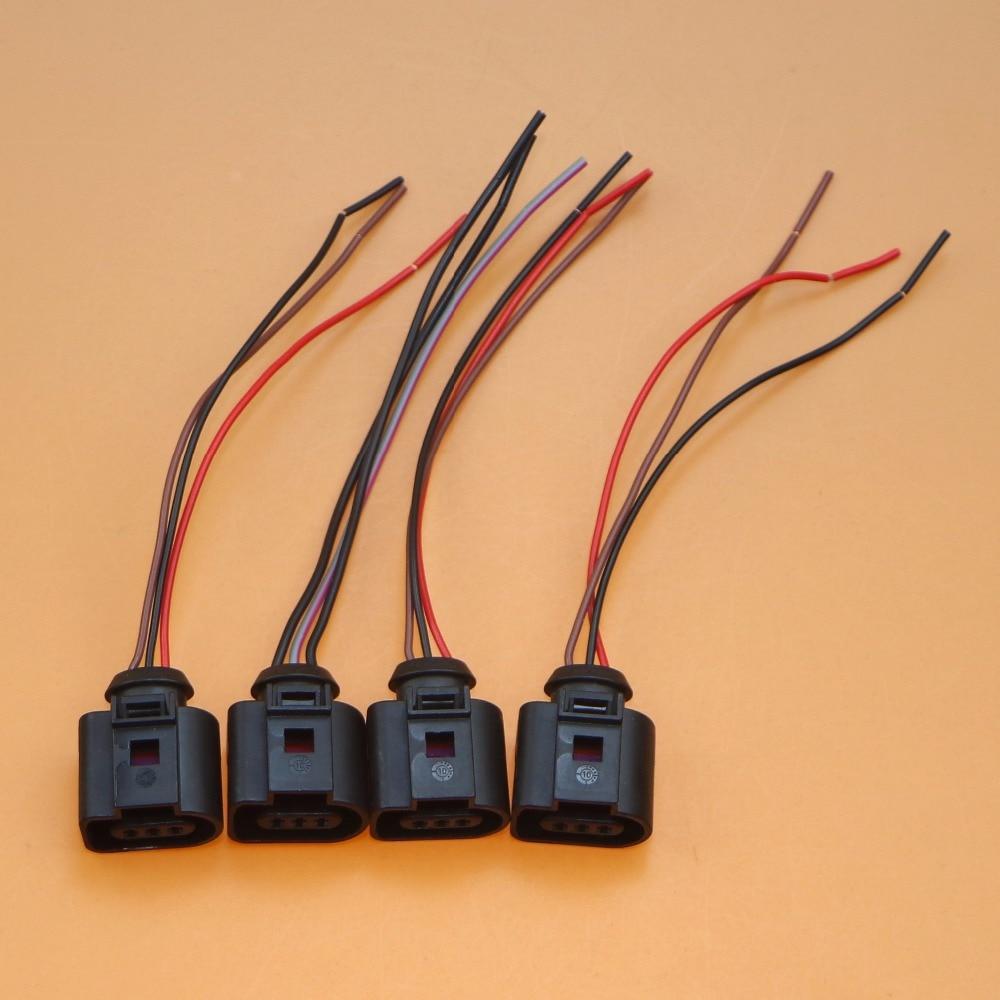 4Pcs Air Conditioning Pressure Sensor Plug Cable Harness For A3 TT VW Bora Touran Sharan Passat Jetta Seat Altea 3B0 973 703 G