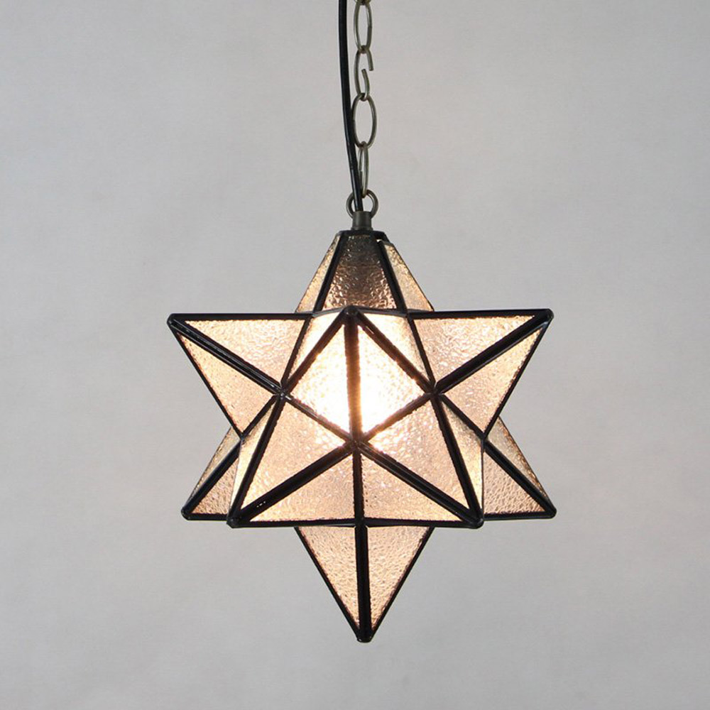 Europe Country Diamond Glass multilateral Star Chain Pendant Light Free Shipping balcony Hallway Corrider Pendant Light old antique bronze doctor who theme quartz pendant pocket watch with chain necklace free shipping