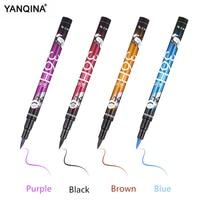 YAQINA 4 Colors Eyeliner Pencil Waterproof Professional Liquid Long Lasting Cosmetics Eye Liner Pen Black Smooth Make Up Tools