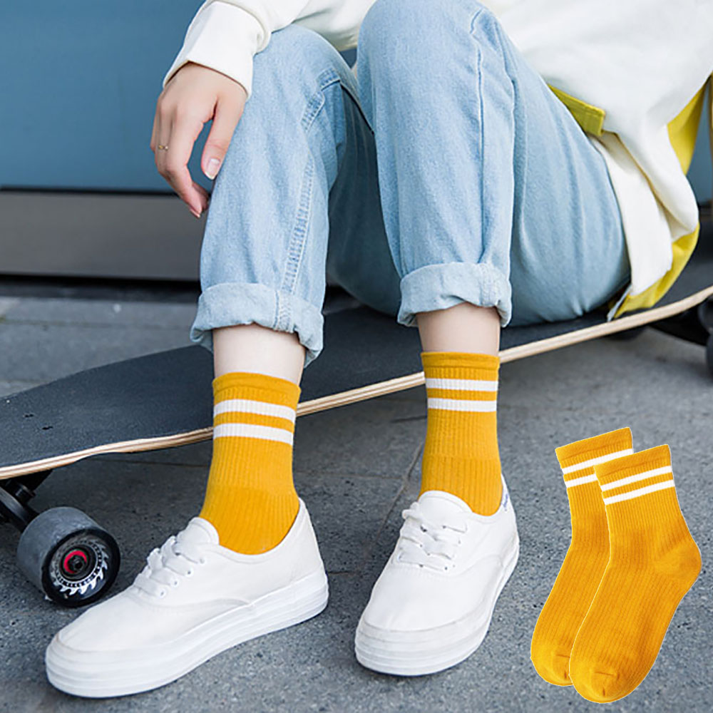 2019 New 1pair Women Girls Cotton Striped Socks Summer Thin Cotton Sock Slippers Short Men's Socks Calcetines Mujer