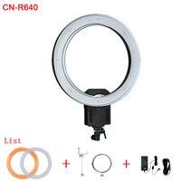 Кольцевой светильник CN R640 CRI 95 640 светодиодный 5600 K с регулируемой яркостью для камеры кольцо видео свет лампа для фотографии фотостудия теле