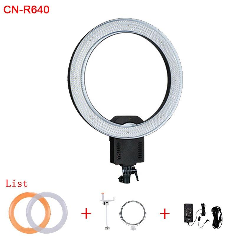 Anneau lumière CN-R640 CRI 95 640 LED 5600 K Dimmable caméra anneau vidéo lumière lampe pour photographie Photo Studio téléphone maquillage beauté