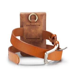 Image 4 - Multifunktions 5.2 ~ 6.5 Leder Telefon Beutel Taschen Haken Schleife Gürtel Clip Fall für Samsung Hinweis 10 9 8 brieftasche Taschen für iPhone 11 XR