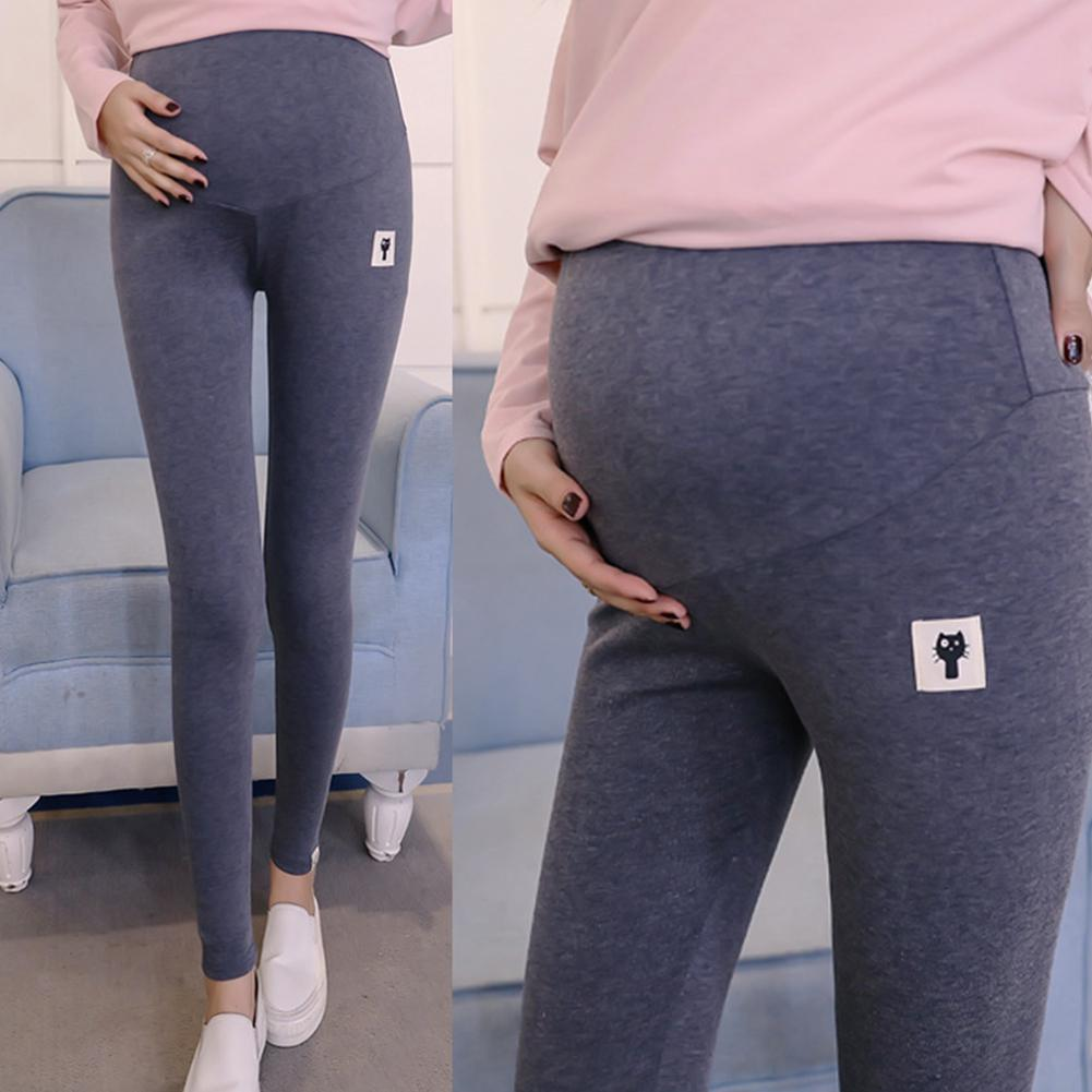 Maternity-Leggings Clothing Support-Trousers Pregnant-Pants Women's Solid