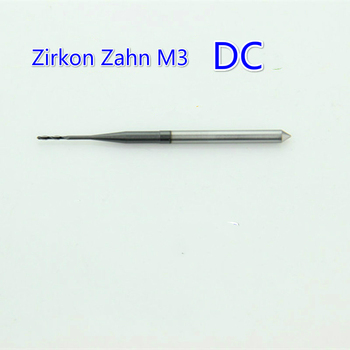 1Pcs DC Coating 3mm Shank Dental CADCAM Milling Burs Dental Zirconia Cutting Cutter for Zirkon Zahn M3 System Milling Machine