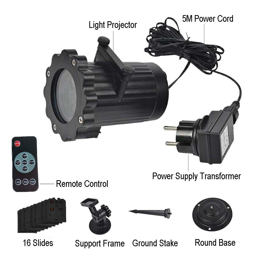 Kmashi 16 Folien Austauschbare LED Projektor Licht ...