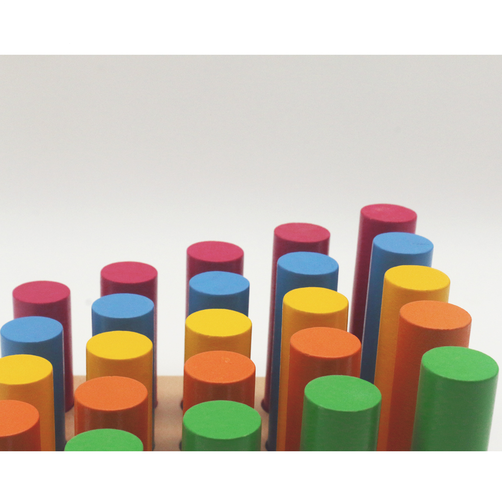 Blocs-cylindres Montessori éducatifs en bois jouets préscolaires en bois Montessori jouets d'apprentissage pour 2 3 4 ans B1386T - 3