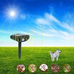 Solar Powered Cat Dog Ultrasonic Repellent Outdoor  and Waterproof Animal Repeller Deterrent Scarer Pest Control