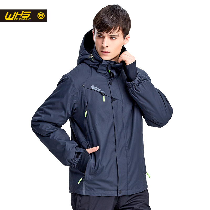 WHS New Men ski Jackets brands Outdoor Warm Snowboard Jacket coat male waterproof snow jacket Man sportswear winter clothes цена