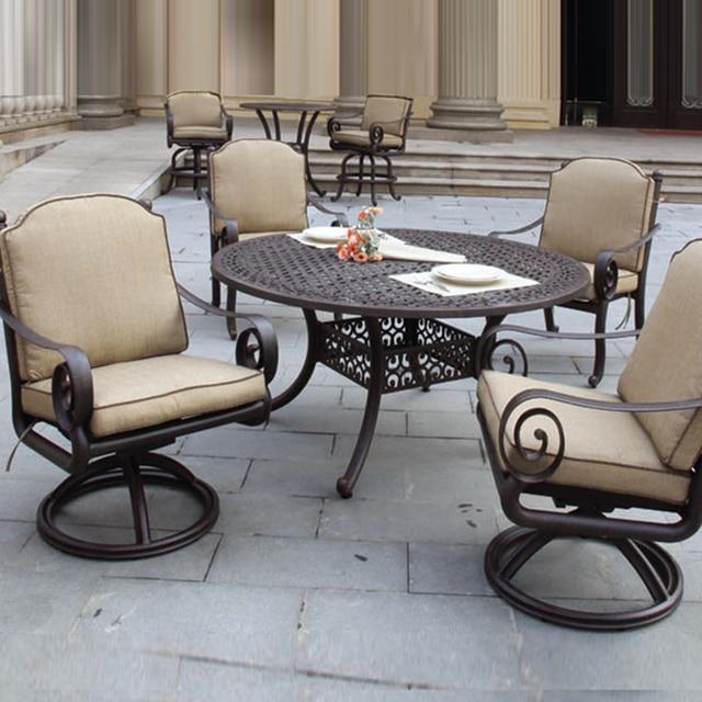 5 pièces haute qualité en fonte d\'aluminium table et chaise mobilier ...