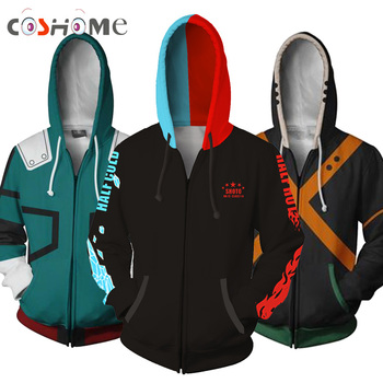 Coshome Anime Boku No My Hero Academia Cosplay Costumes Hoodies H Sweatshirts Bakugou Todoroki Shoto Spring Jacket Coat