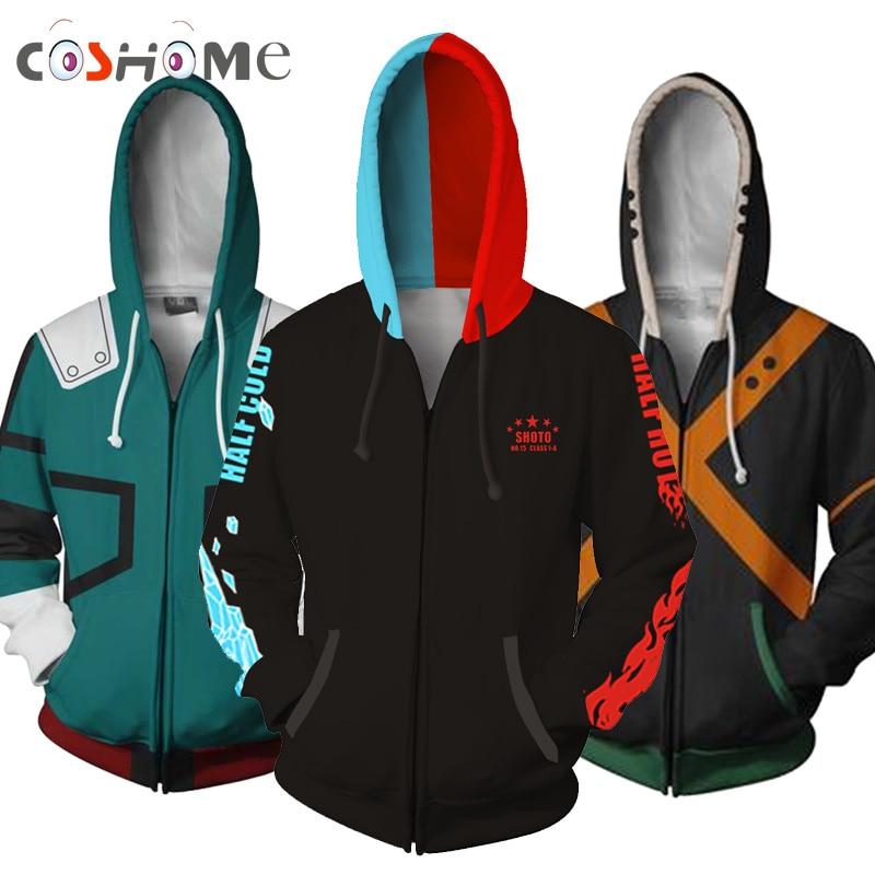 Coshome font b Anime b font Boku No My Hero Academia Cosplay Costumes Hoodies H Sweatshirts