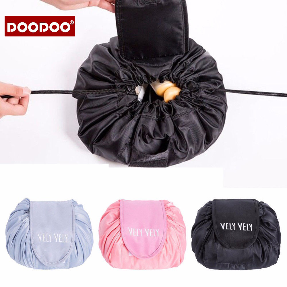 magic cosmetic travel pouch drawstring Large Capacity cosmetic bag women travel storage lady's packing bag for cosmetic