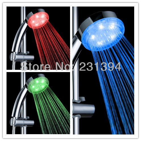8008 A19 Automatic 3 Colors Changing Shower Head Sprinkler ...