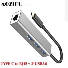 Type-C Docking Station to Multi USB 3.0 for MacBook Pro Huawei P20 USB 3.0 RJ45 High Speed Transmission USB-C HUB