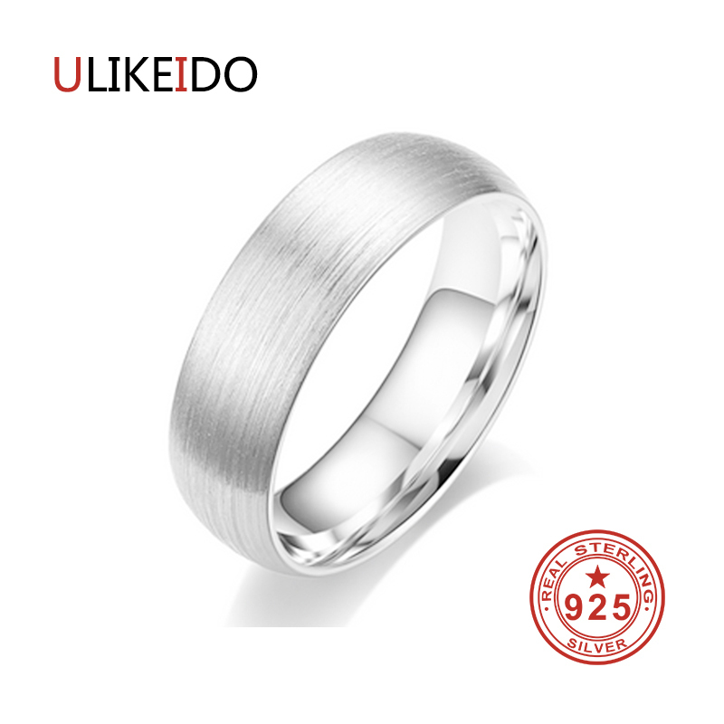 100% Pure 999 Sterling Silver Jewelry Wire Drawing Rings Fashion Dull Polish Classic Ring For Men And Women For Wedding Gift 348 jewelrypalace classic wedding solitaire ring for women pure 925 sterling silver simple wedding jewelry fashion gift