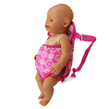 New Design 18inch Doll Sleeping Bag Backpack Toy Baby Swaddle Accessories Doll Clothes Wear Outgoing Role Play For Reborn Dolls