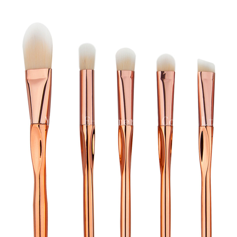 50SET  Rose Gold Heart-shaped Makeup Brushes Set Blush Contour Eyebrow Lip Foundation Brush Synthetic Hair Make Up Tool Cosmetic 7pcs makeup brushes professional fashion mermaid makeup brush synthetic hair eyebrow eyeliner blush cosmetic