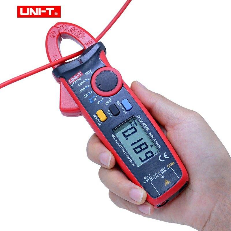 UNI T UT210E Mini Digital Clamp Meter Ture RMS Auto Range AC DC Current Voltage Capacitance