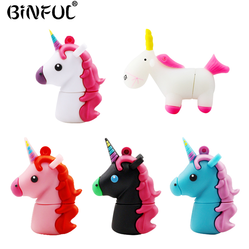 Colorful Unicorn USB Flash Drive 4GB 8GB 16GB 32GB 64GB Pendrive Waterproof Pen Drive Memory Stick Horse USB 2.0 Disk Mini Gifts