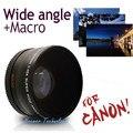 Высококачественный объектив Neewer 58мм 0,45х со сверхшироким углом обзора, линзы для фотоаппаратов Canon EOS 1100D 550D 700D 600D с сумкой и чехлом для линз. Бесплатная доставка