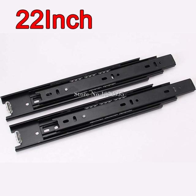 High Quality ! Hot 22inch Telescopic Drawer Runners Metal Ball Bearing Slide Rails Furniture Hardware E178-8