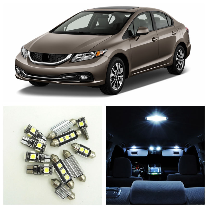6 x 5050 SMD Full LED Interior Lights Package For 2010-up Toyota Prius Hybrid