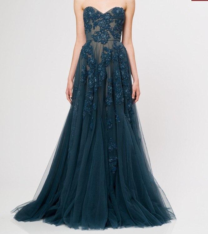 Dark Slate Gray Prom Dresses
