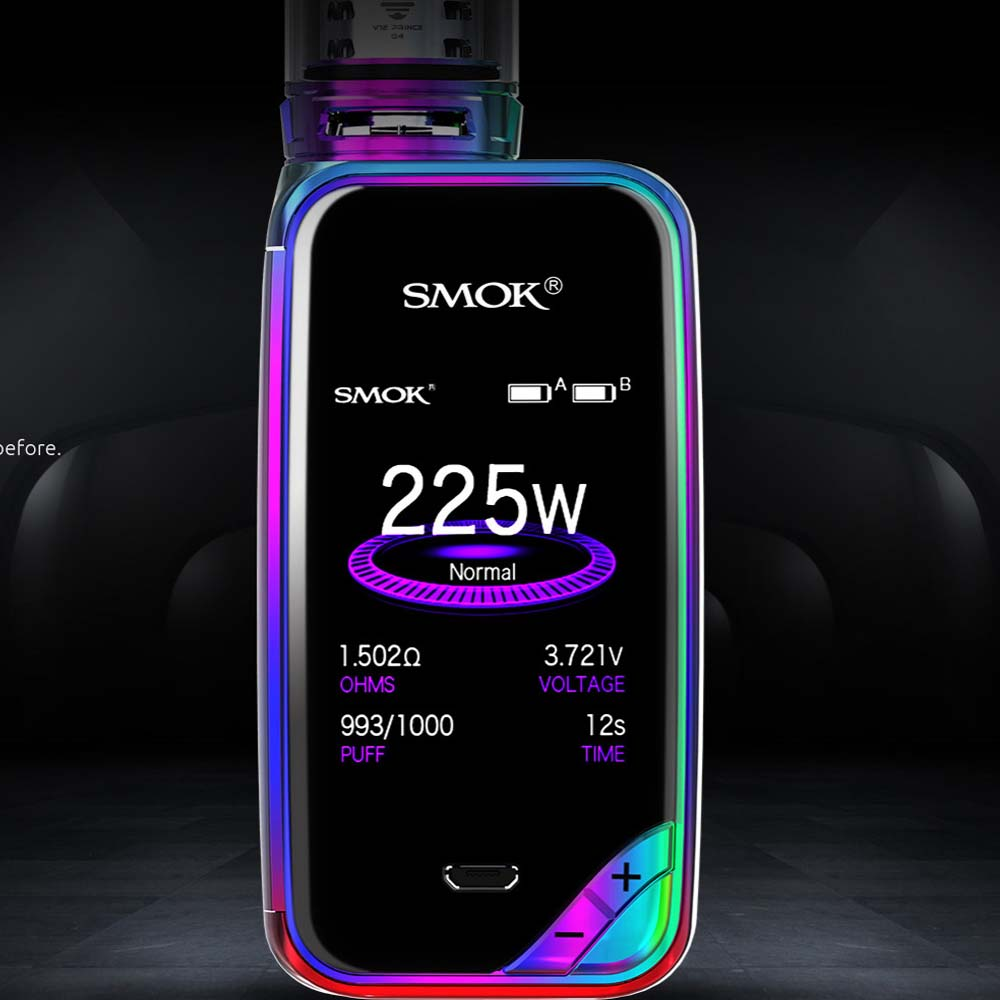 100% Authentic SMOK X-PRIV Kit with 8ml TFV12 Prince Tank Vaporizer 225W X PRIV Mod Electronic Cigarette SMOK VAPE Kit