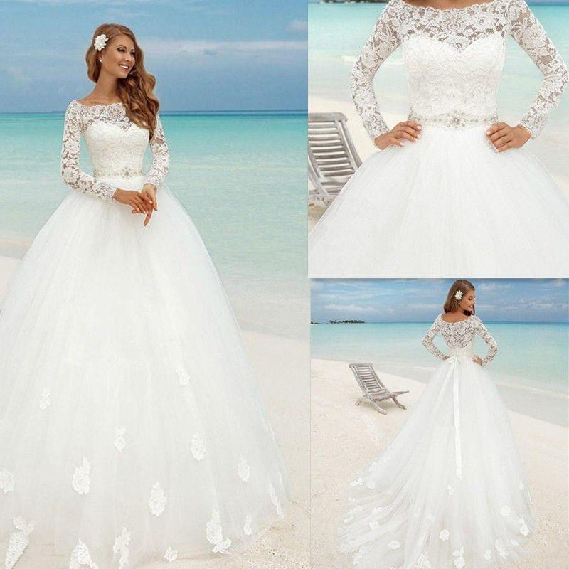 Long Sleeve Wedding Gowns 2017