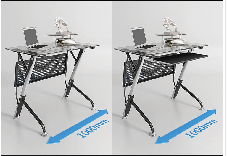 Купить с кэшбэком Computer desk. Contracted and contemporary toughened glass. Desktop home desk