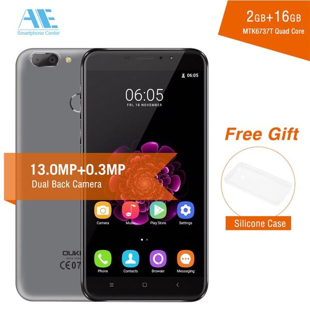 Oukitel U20 Plus Dual Rear Camera MT6737T Quad Core Android 6.0 Fingerprint 2GB RAM 16GB ROM 5.5 Inch 1920X1080P Mobile Phone