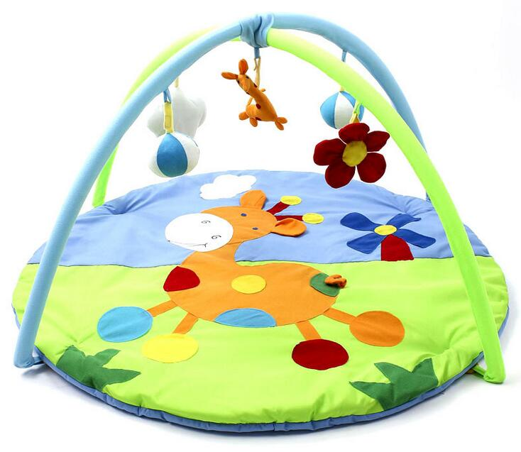 High Quality Baby Educational Toys Portable Blue Crawling Mat Sika Deer Infant Floor Blanket Baby Play Mats Baby Cushion Kids baby play mats brown bear baby crawling mats baby cushion 0 12 months baby mats gifts 95cm 95cm toys mat