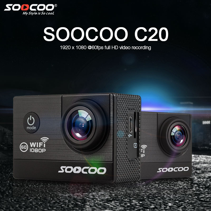 SOOCOO C20 WIFI 1080 P 60fps HD Camera Action Sport DV Étanche 170 Grand Angle 2.0