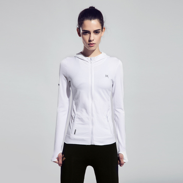 Breathable Women Yoga Jacket Sport Trainning Sweater Long Sleeve Zipper Fitness Tops Athlete Running Coat Badmintom Jerseys