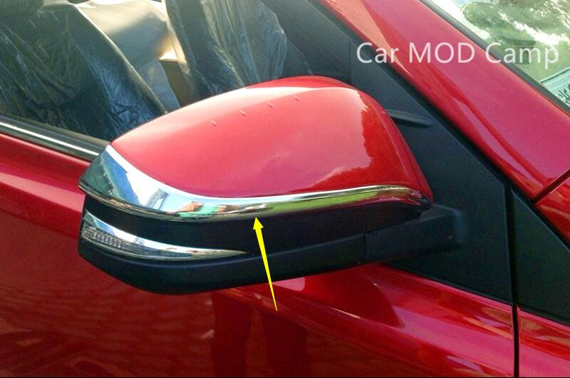 For Toyota Harrier 2013 2014 2015 2016 2017 XU60 ABS Chrome Side Mirror Rearview Strip Cover