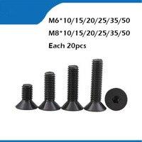 M6/8 mm *10.15 50mm flat head countersunk head black carbon Steel Hex Socket Head Cap Screw